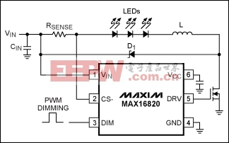 Figure 1. Standard driver circuit for HB LEDs.