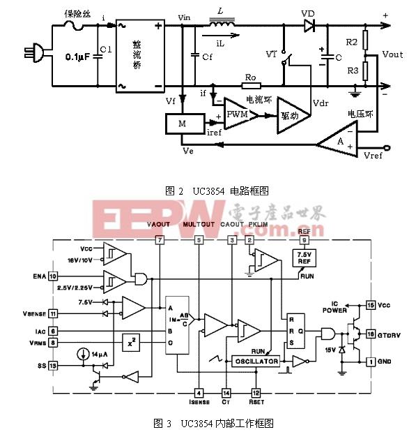 采用uc3854的有源功率因数校正电路工作原理与应用