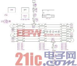图1 Serenade中的微带发夹式滤波器的原理图。