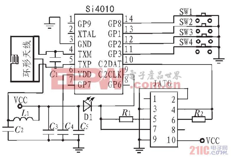 图2 发射系统电路原理图
