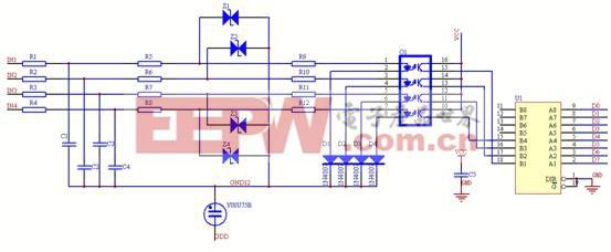 图1:采样电路设计。