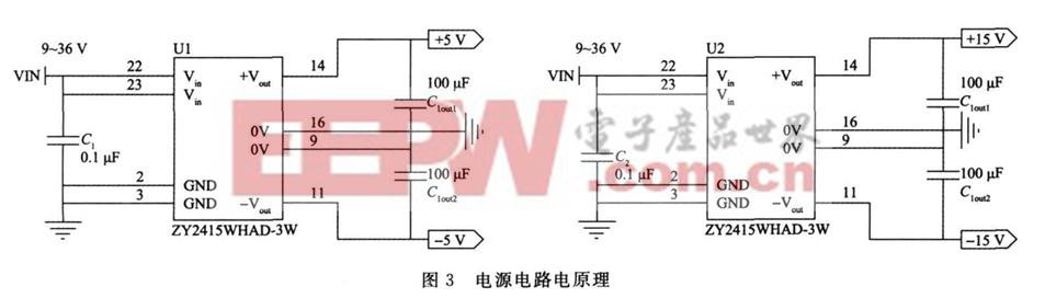 设计应用 > 基于c8051f130和max038信号源发生器设计分析  该部分电路