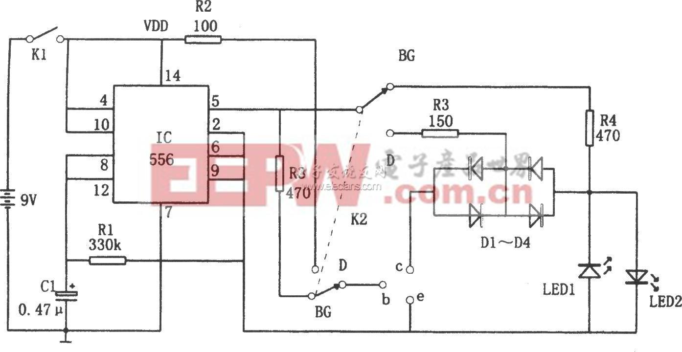 二极管、三极管在线快速测试器电路