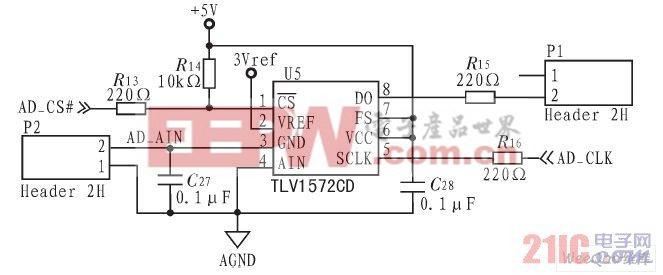 A/D芯片及周边电路