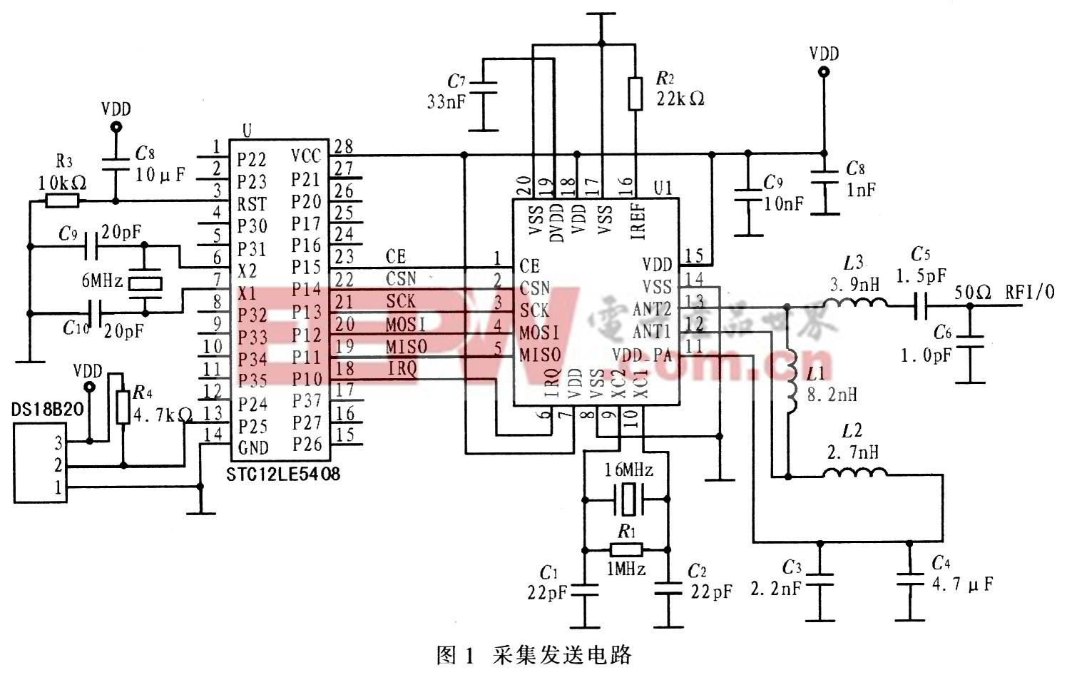 基于nrf24l01的无线温度采集系统设计
