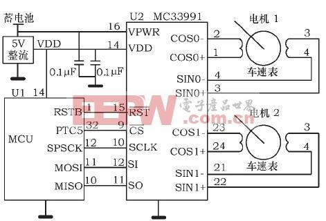 MC33991与MCU接口电路图