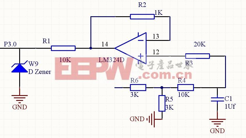 图4 电压信号采集电路