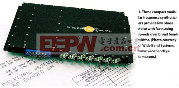 基于内部恒温控制式晶体振荡(OCXO)的频率参考,频率精度是5PPM,然而可以通过连接到适当的外部参考源来达到更高精度。大小为6.5×6.25×1.050英寸的频率合成器,在温度和频率之上提供了具有±1.5 dB平坦度的+10 dBm输出功率,它的最大杂散噪声是-50dBc,最大谐波噪声-20dBc。 Herley CTI公司是一家历史悠久的频率合成器供应商,除了宽带合成器系列外,该公司还提供针对特定应用的BBS系列产品。例如,BBS-600型号工作在4,400至6