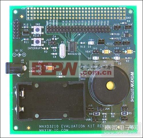 MAXQ3210评估工具配备有压电喇叭