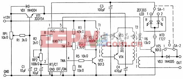 DL-01低频电疗仪电路剖析(电路图)KW9712 Low-frequency signal generator