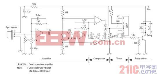 图6 红外自控led节能灯具产品方案设计思路 红外传感器与菲涅尔透镜