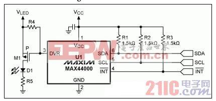 图2. 提高LED电流的最简单方式