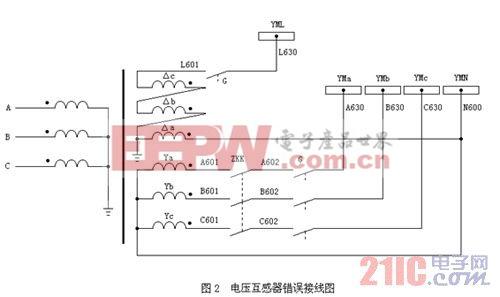 一起35kV电压互感器二次侧接线错误分析