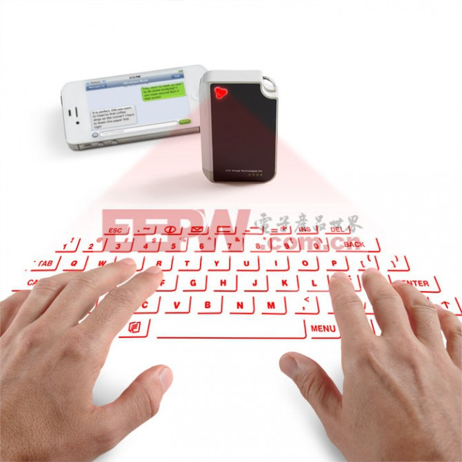 Brookstone has begun taking orders for a new virtual keyboard from CTX, which projects a u...