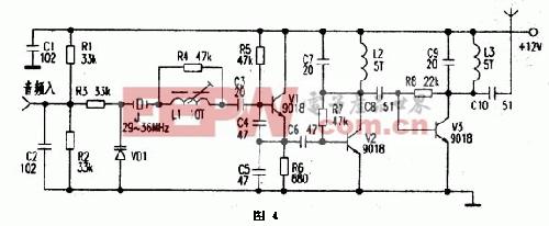 无线简易话筒电路设计原理
