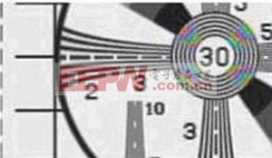 图5:色度路径中残余的亮度信号造成串色伪像。