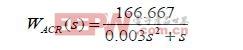电流环的对数频率特性仿真及其分析电流环为典型Ⅰ型系统,其传递函数为: