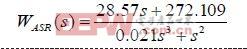 转速环为典型Ⅱ型系统,其传递函数为: