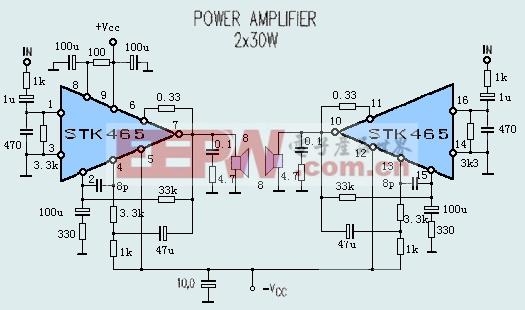 STK465典型应用电路