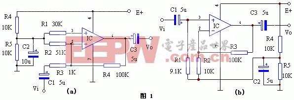 集成运算放大器的单电源供电电路