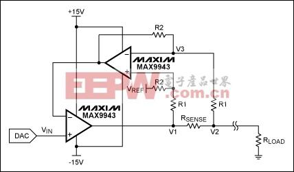 在4–20mA电流环中如何使用高压、大电流驱动运算放大器