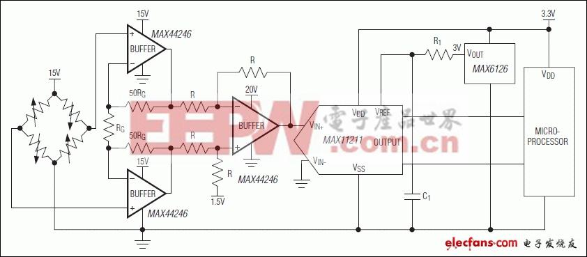MAX44246:典型工作电路