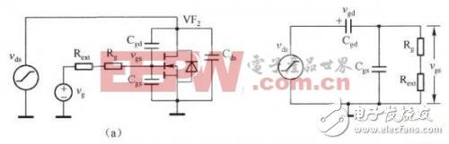 这一阶段的等效电路如下图(a)和下图(b)所示,同时可以认为VF2的栅极电压为O.
