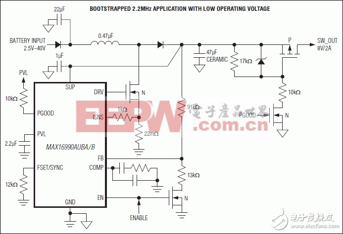 MAX16990,MAX16992 36V,2.5MHz的汽车升压/SEPIC控制器