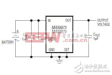 MAX8873,MAX8874低压差、120mA线性稳压器数据资料