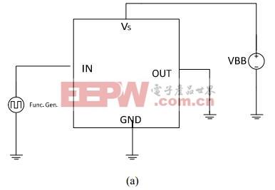 图2(a)用于短路表征的电路原理图