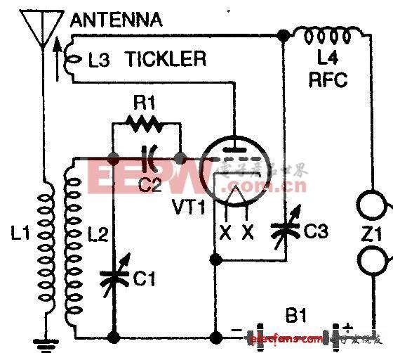 一般再生式接收机电路图