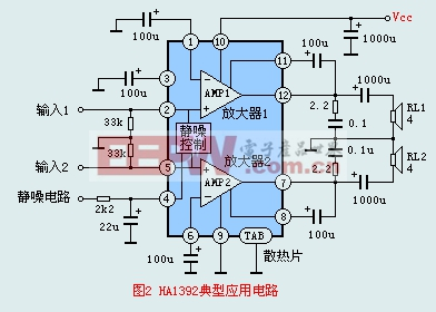 HA1392典型应用电路