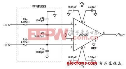 主流仪表放大器芯片学习详解(1):AD620四