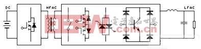 高频脉冲交流环节逆变器电路结构