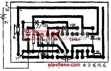 用CMOS集成电路制作一个感应验电器