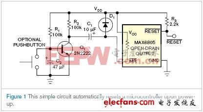 上电时实现延时系统复位的IC