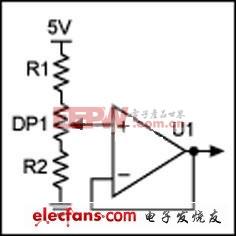 使用数字电位器消除电压的变化