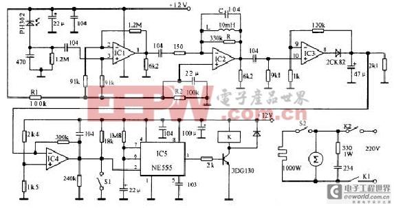 [图文]自动干手器电路图