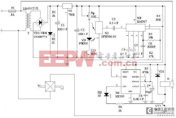 [图文]自动洗手器电路图2