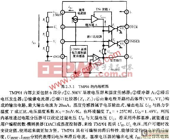 TMP01型集成温度控制器