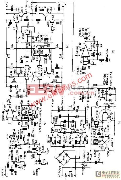 利用美声TA-1500发烧功放电路板装机