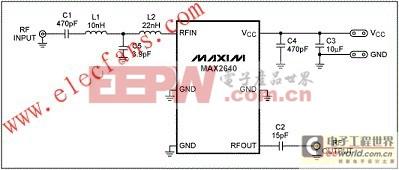针对ISDB-T应用的MAX2640低噪声放大器(LNA)