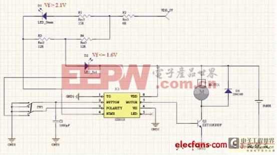 SX8121的马达驱动电路设计图片