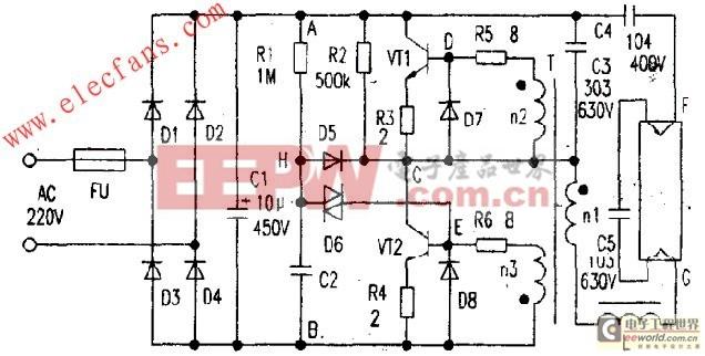 电子镇流器易损配件的检修