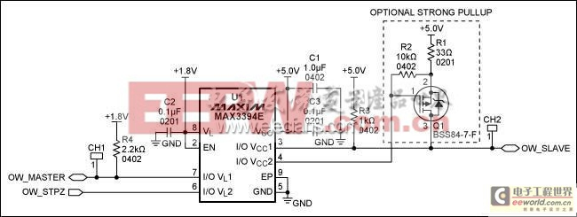 MAX3394E实现1.8V至5V双向电平转换