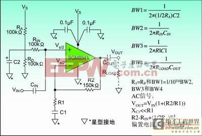 图2:接电容C2来旁路AC信号,提高AC的电源抑制。