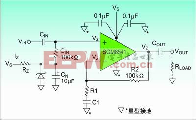 图3:齐纳二级管偏置电路。