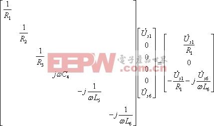 矩阵形式的节点电压方程