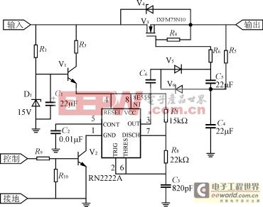 图2555电路结构框图及引脚功能    555定时器的脚2及脚6处于高电平