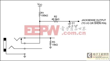 为MAX13330/MAX13331汽车耳机放大器添加插孔检测
